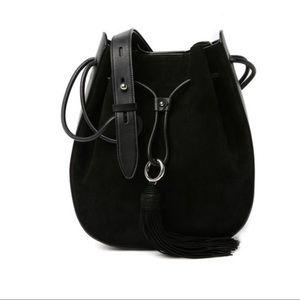Rebecca Minkoff Lulu Suede Leather Shoulder Bag